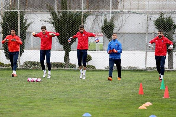 Trabzonspor, Galatasaray maçının hazırlıklarını sürdürdü