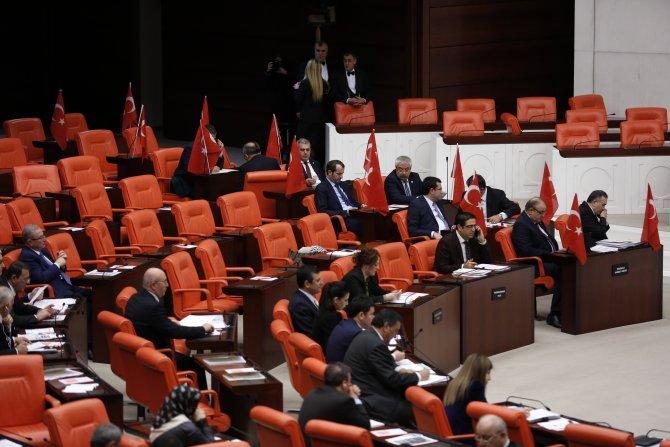 MHP milletvekilleri, Meclis'e Türk bayraklarıyla geldi