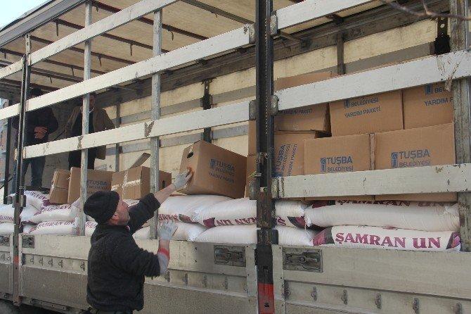 Tuşba Belediyesi'nden Bayırbucak Türkmenlerine Yardım Eli