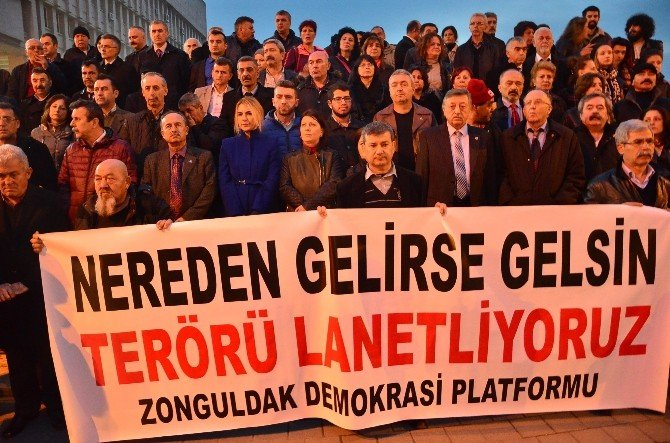 Zonguldak Teröre Tepki İçin Yürüdü