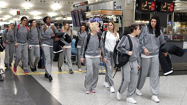 A Milli Kadın Basket takımı Romanya'ya gitti