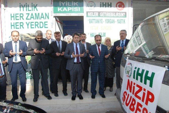 AB Bakan Yardımcısı Ali Şahin, Nizip'te Dualarla Yardım Gönderdi