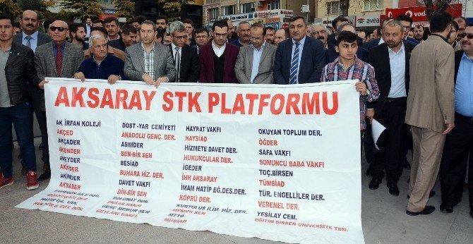 Aksaray'da STK Platformu Terörü Lanetledi