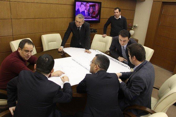 Başkan Aksu, Doğalgaz Projesini İnceledi