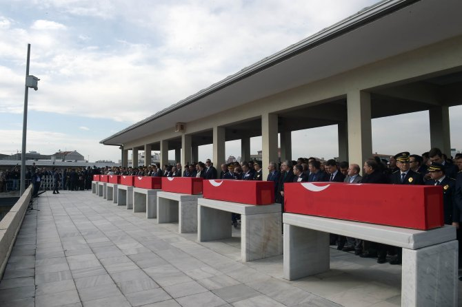 Ankara 8 şehidini uğurladı