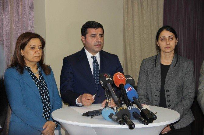 HDP Eş Genel Başkanı Demirtaş'tan Gündeme İlişkin Açıklama