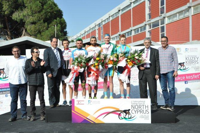 Kuzey Kıbrıs Bisiklet Turu'nun ilk etabını Kazak sporcu önde bitirdi