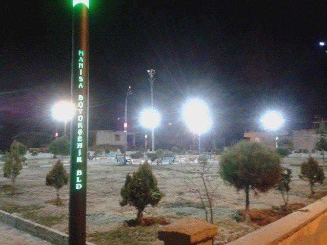 Manisa Büyükşehir'den Kula'da Aydınlatma Çalışmaları
