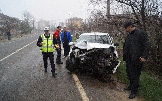 Sarıyer Mahalle Muhtarı Kazada Yaralandı