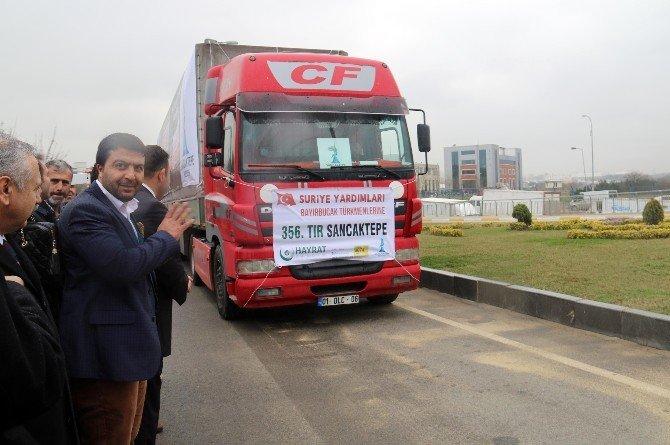 Sancaktepe Belediyesi'nden Bayırbucak Türkmenlerine 8 Tır Yardım