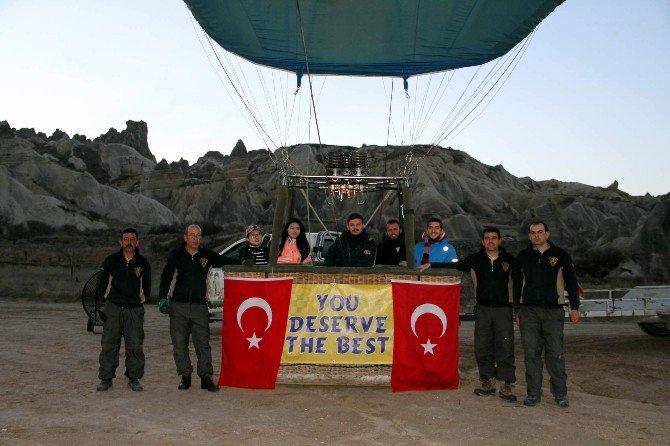 Kapadokya'da Balonlar Şehitler İçin Havalandı