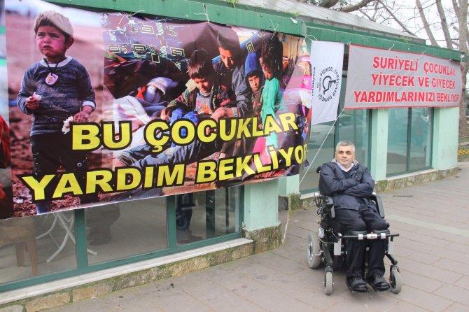 Engellilerden Suriyeli çocuklar için yardım kampanyası