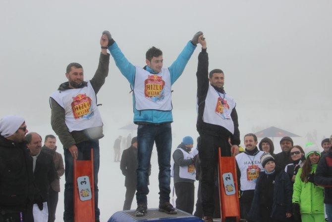 Ilgaz'da hızlı kızak yarışları sonuçlandı