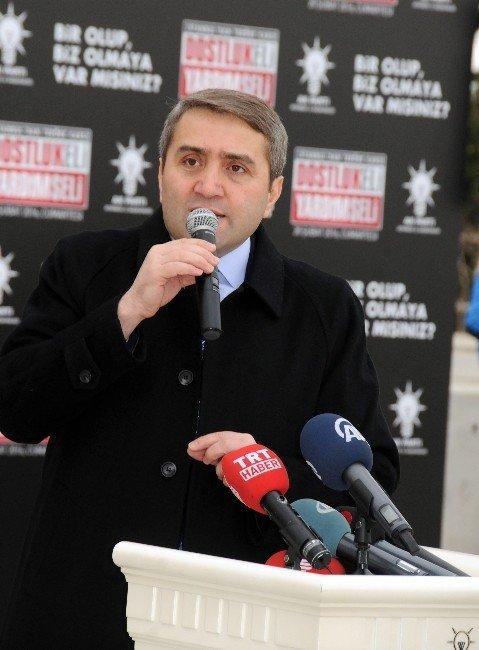AK Parti'den Bayırbucak Türkmenleri'ne 54 Tır Yardım Malzemesi