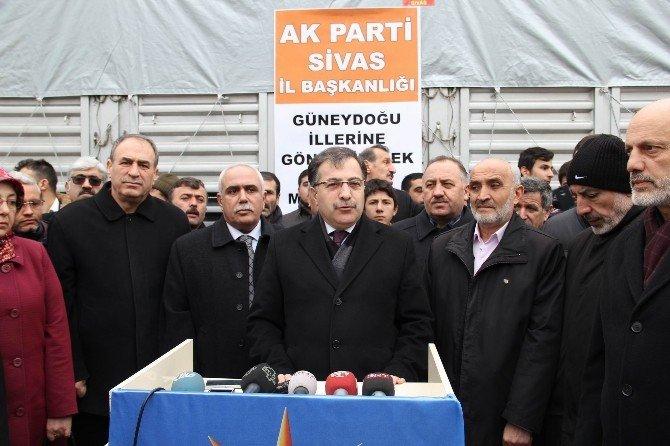 Sivas'tan Terör Mağduru Ailelere Yardım Eli
