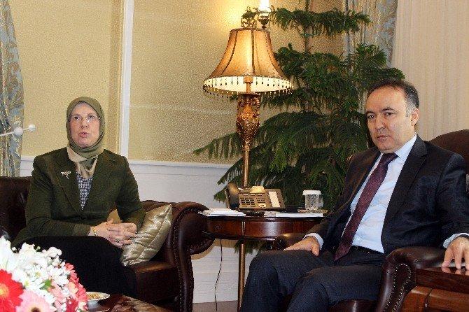 Bakan Sema Ramazanoğlu Erzurum'da