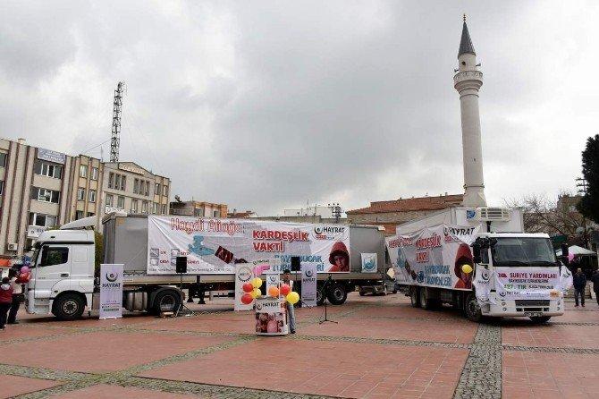Aliağa'dan Bayırbucak Türkmenlerine Yardım Eli