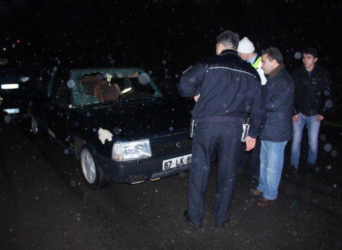 Polis Gerçek Sürücüyü Elindeki Kandan Buldu