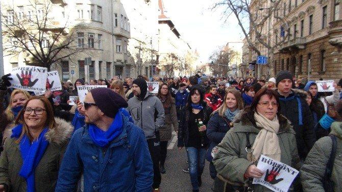 Budapeşte'de 10 Bin Hayvansever Parlamentoya Yürüdü