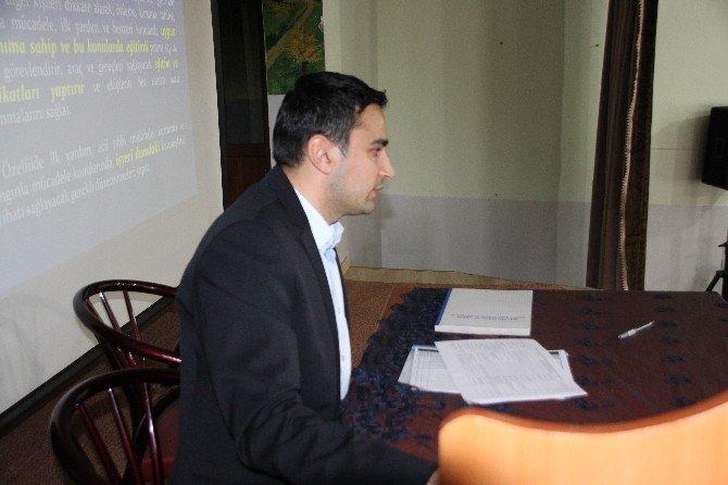 Varto'da Milli Eğitim Çalışanlarına İş Sağlığı Ve Güvenliği Anlatıldı