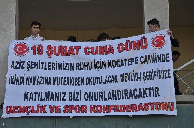 Türkiye Gençlik Ve Spor Konfederasyonu Şehitler İçin Mevlit Okuttu