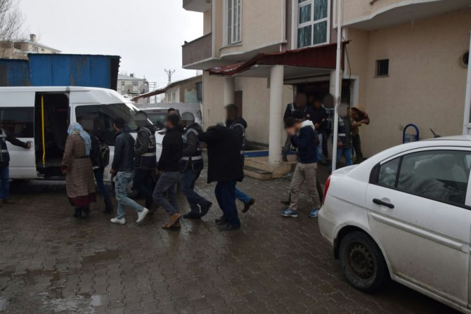 Ağrı'da uyuşturucu operasyonunda 18 kişi tutuklandı