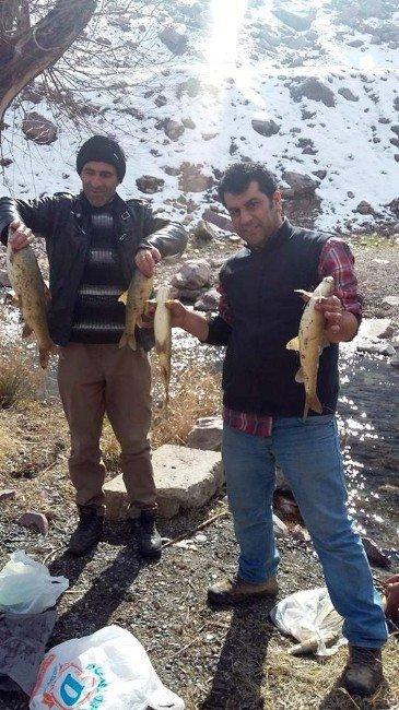 Paraşütle Balık Avladılar