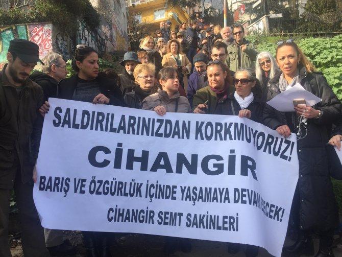 Cihangirlilerden protesto eylemi