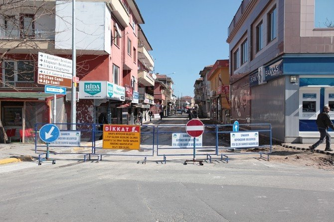 Şal Sokak'ta Çalışmalar Başladı