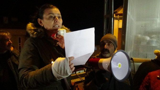 Cerattepe protestosunda yaralanan kadınlar basın açıklaması yaptı