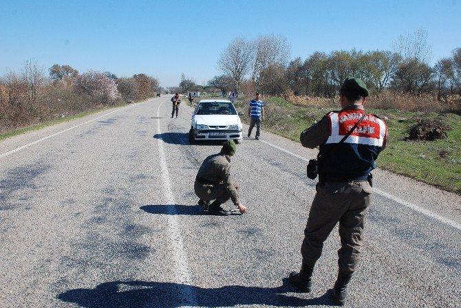 Bayramiç Ezine Karayolunda Kaza; 1 Yaralı