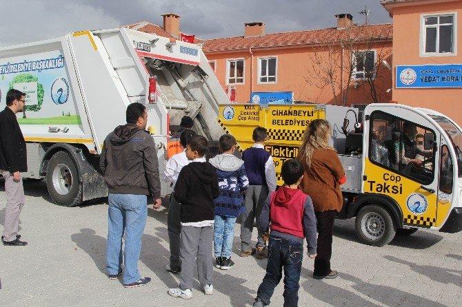 """Cihanbeyli'de """"Çevremizi Temiz Tutalım"""" Projesi"""