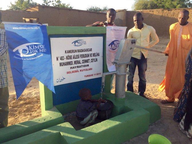 Denizlili hayırsever Kamerun'da su kuyusu açtırdı