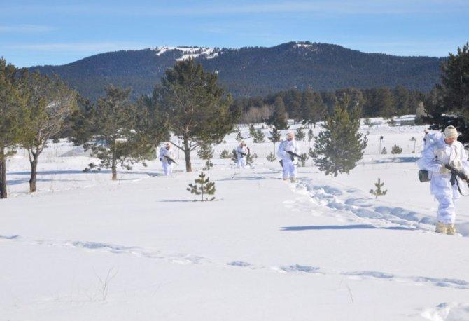 Türk Silahlı Kuvvetleri'nden değişik illerde kış tatbikatları
