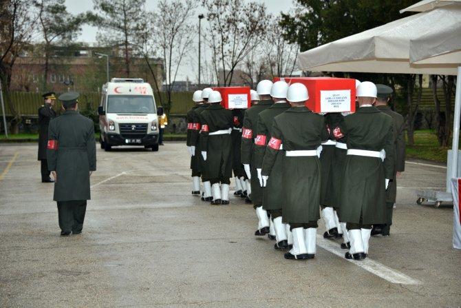 Sur'da şehit olan uzman çavuşlar için uğurlama töreni