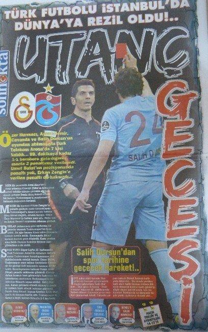 Tartışmalara Neden Olan Galatasaray-trabzonspor Maçı Trabzon'daki Yerel Gazetelere Böyle Yansıdı