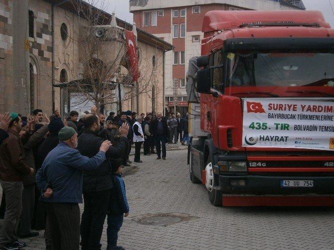 Bolvadin'den Bayırbucak Türkmenlerine 2 Tır Dolusu Yardım Gönderildi