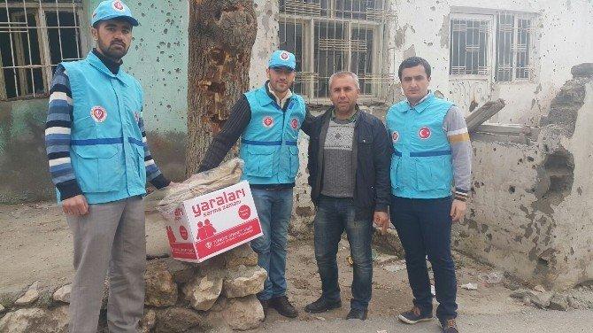Terör Mağdurları İçin Gönderilen Yardımlar Dağıtıldı