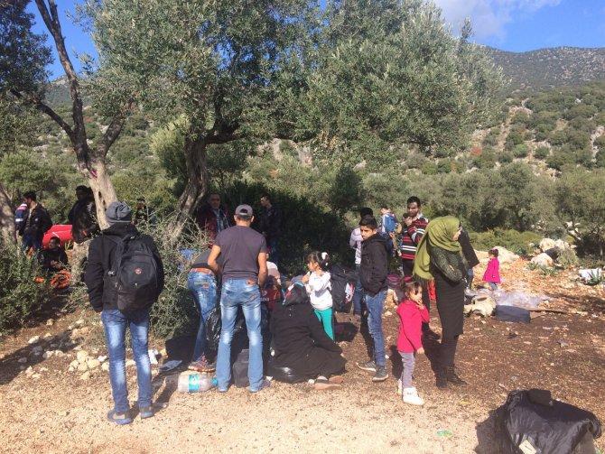 Antalya'da 7 ülkeden 122 kaçak yakalandı