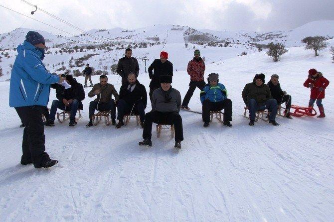 Bayburt'ta Kayak Ve Kızak Yarışması