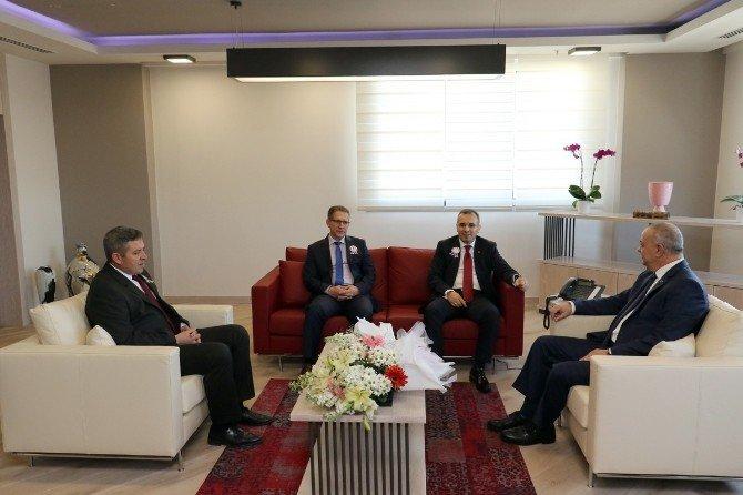 Başkan Ergün'e Vergi Dairesinden Ziyaret