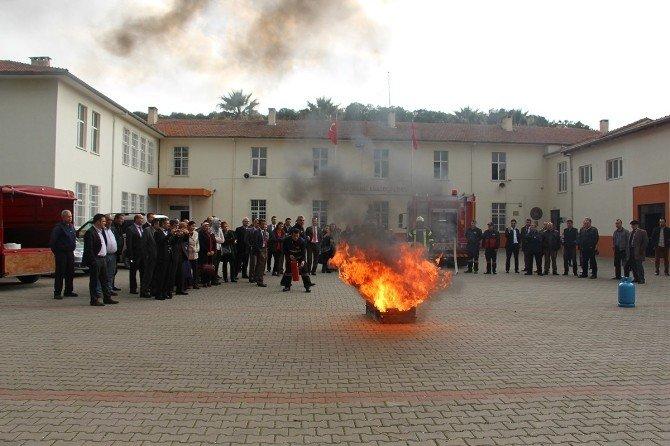 İtfaiye'den Saruhanlı'ya Yangın Eğitimi