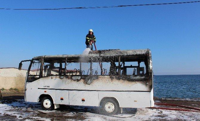Tekirdağ'da Midibüs Yangını