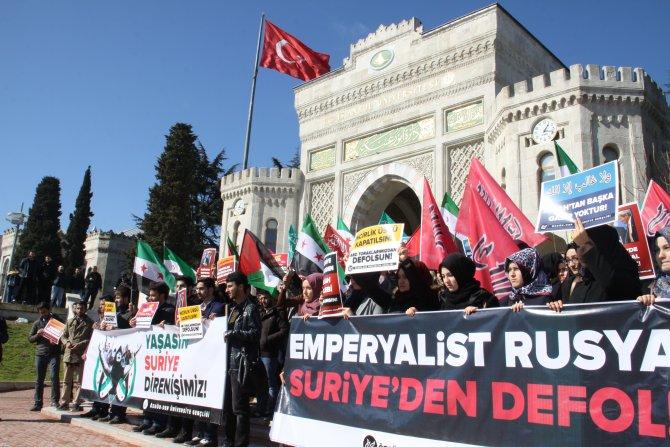 Esed'e karşı savaşan Suriye halkına destek eylemi