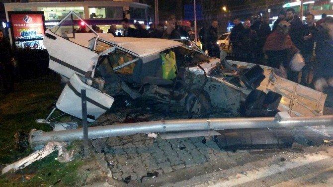 Samsun'da Otomobil Yayalara Çarptı: 7 Yaralı