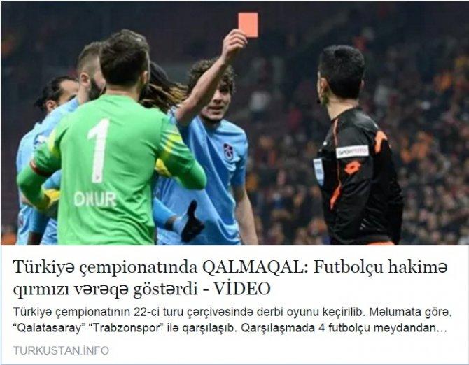 Olaylı maç Azerbaycan'da 'Türkiye Ligi'nde skandal' diye verildi