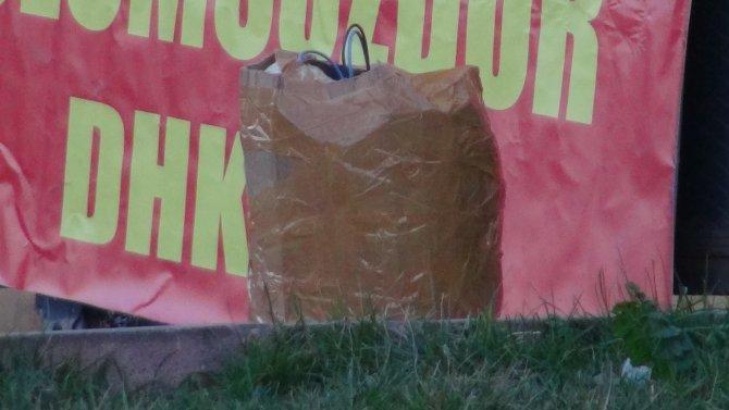 Şüpheli paketten piknik tüpü çıktı