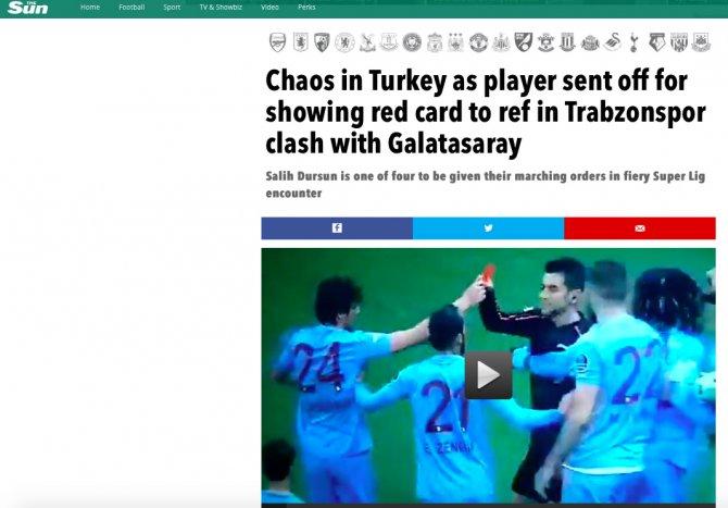 Salih Dursun'ın kırmızı kartı İngiliz basınında