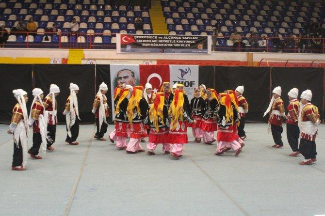 Halk oyunları yarışması Antakya'da yapıldı
