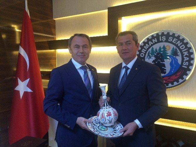 AK Partili Tin'den Öz Orman İş'e Ziyaret